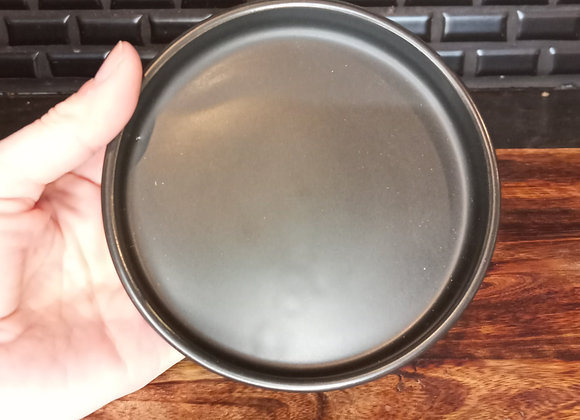"4"" matte black ceramic saucer"