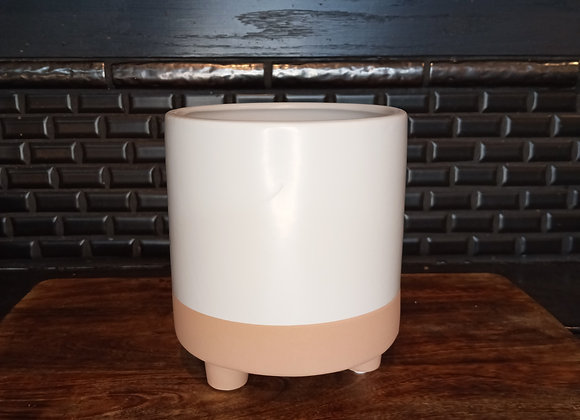 """5.5"""" Footed pot white"""