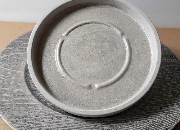 """7.25"""" concrete essential saucer"""