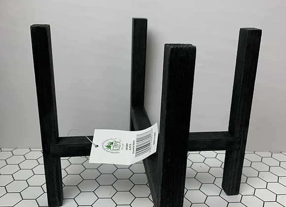 """8"""" Black Plant Stand (reversible)"""