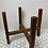 "Thumbnail: 8"" Brown Plant Stand (reversible)"