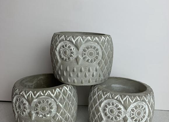 "3.5"" Owl Pot"