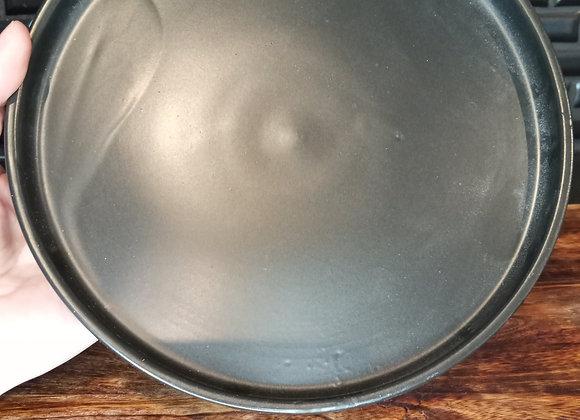 "7.25"" matte black ceramic saucer"