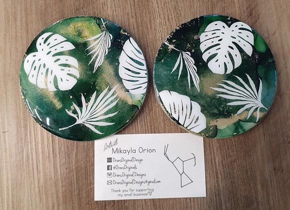 Set of 2 Ceramic Coasters