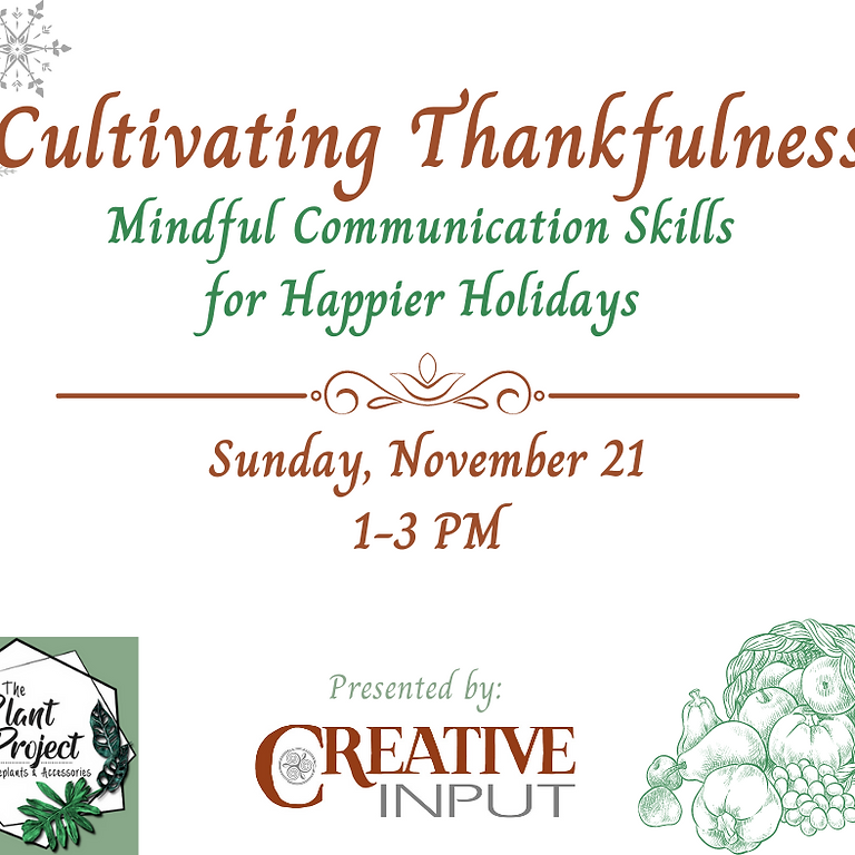 Cultivating Thankfulness