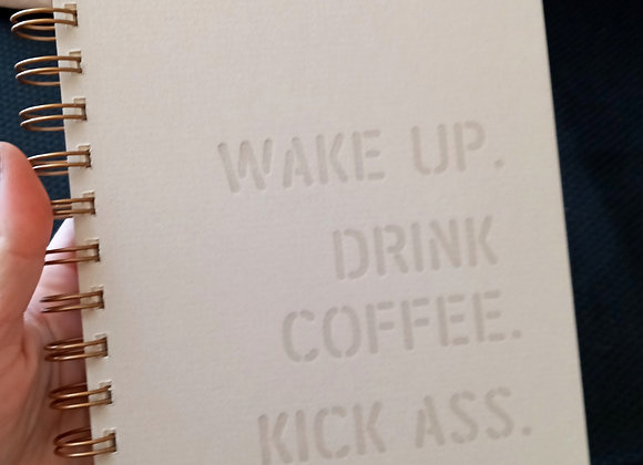 Planner/ notebook- kick ass, repeat