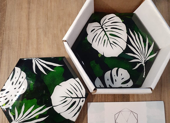 Hand Painted Marble Coasters
