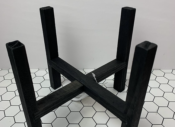 "7"" Black Plant Stand (reversible)"