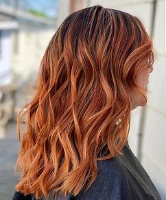 Redhead balayage hair by Bucks County Pa Salon
