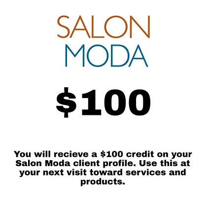 $100 Salon Moda Gift Card
