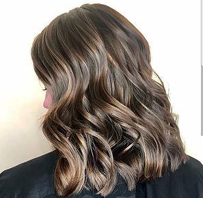 Brunette balayage hair at Huntingdon Valley Salon