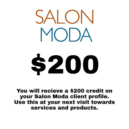 $200 Salon Moda Gift Card