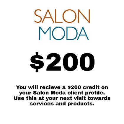 $200 Salon Moda Gift Card