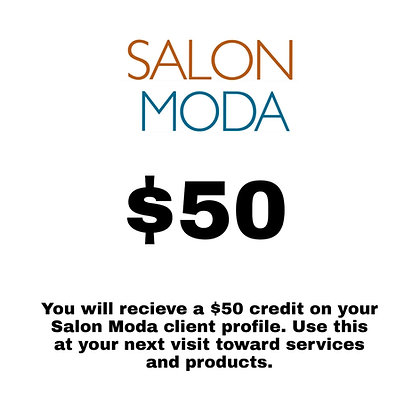 $50 Salon Moda Gift Card