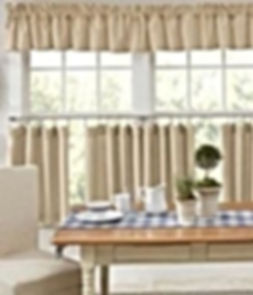tea dyed curtains country