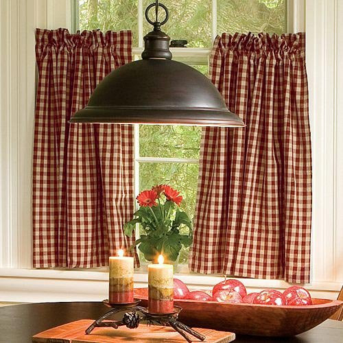 Classic Check 24 Inch Curtains (Pair)