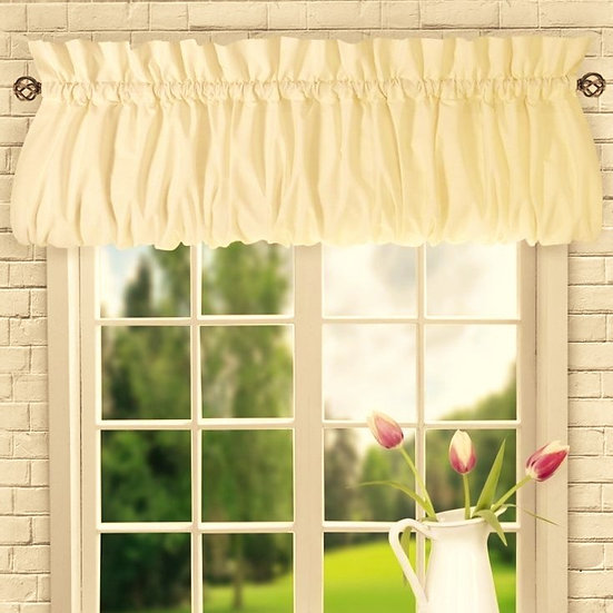 """Cotton Valance 3"""" Rod Pocket ( Shown in Natural Ivory)"""