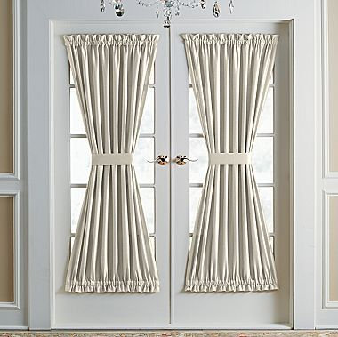 Single Un Lined Door Panel Curtains