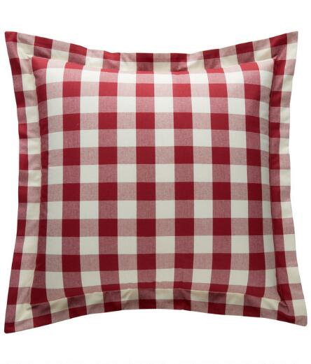 Large 20 Inch Check Throw Pillows
