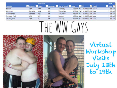 Virtual Workhop Visits July 16th to 19th