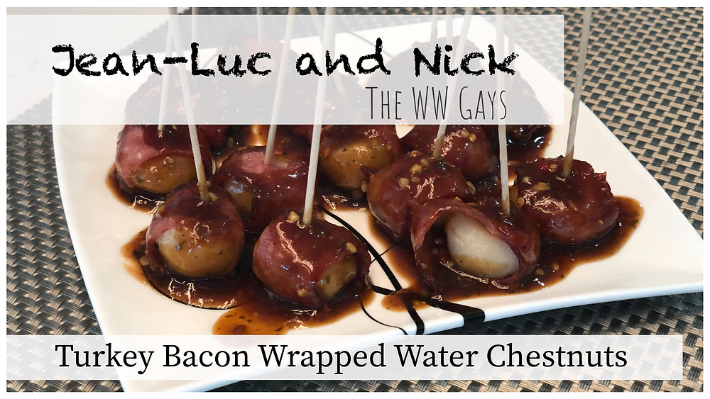 Turkey Bacon Wrapped Water Chestnuts