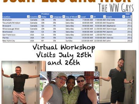 Workshop Visits July 25th & 26th