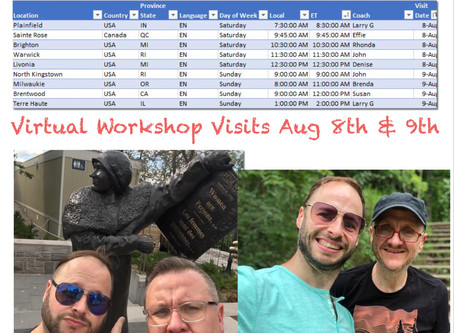 Virtual Workshop Visits August 8th and 9th