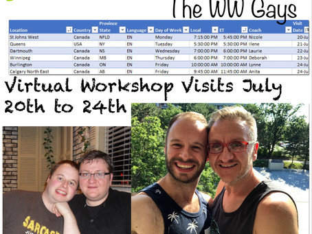 Virtual Workshop Visits July 20th to 24th