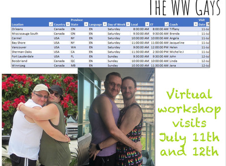 Virtual Workshop Visits July 11th and 12th