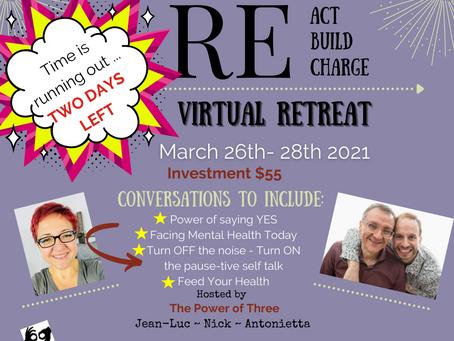 Last Chance!  Power of Three Retreat Starts TOMORROW!