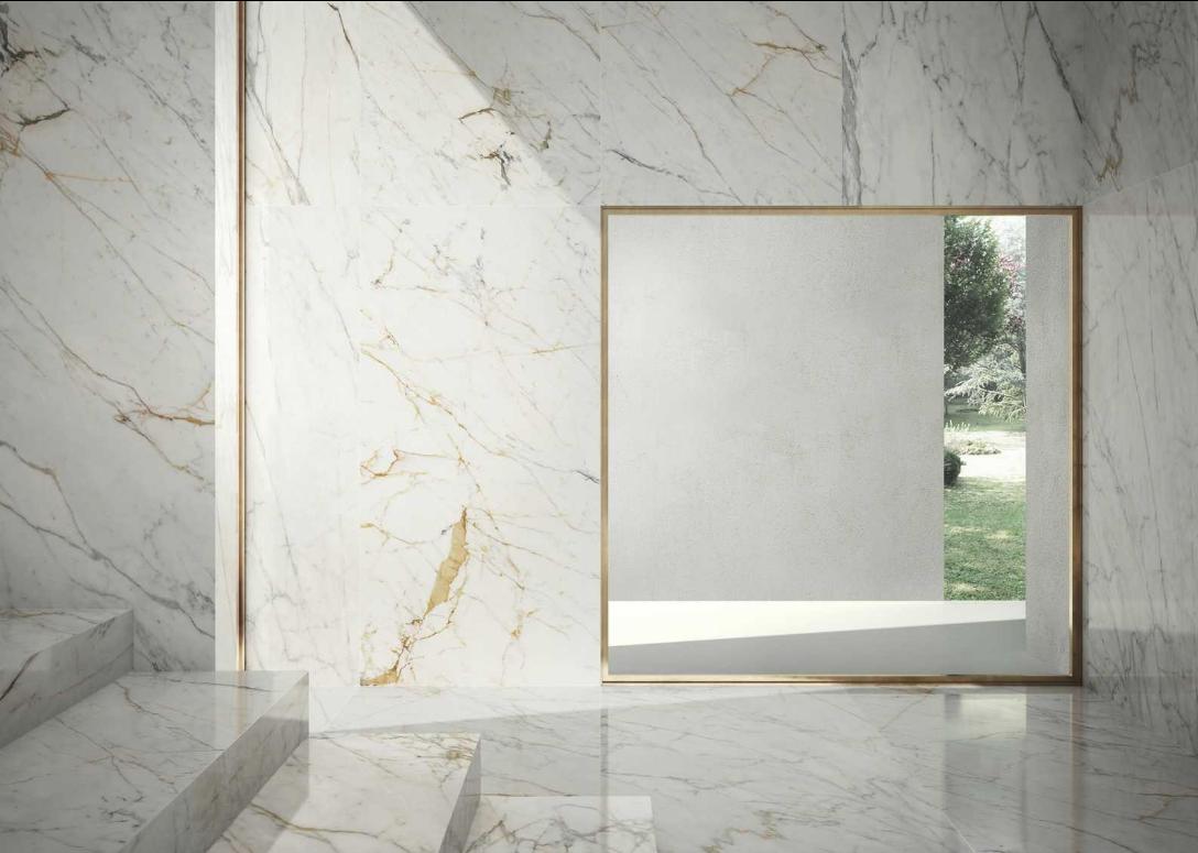 Grande Marble Look Golden White Lux