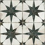 retro star print tile