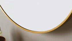 Docklands round brushed brass framed