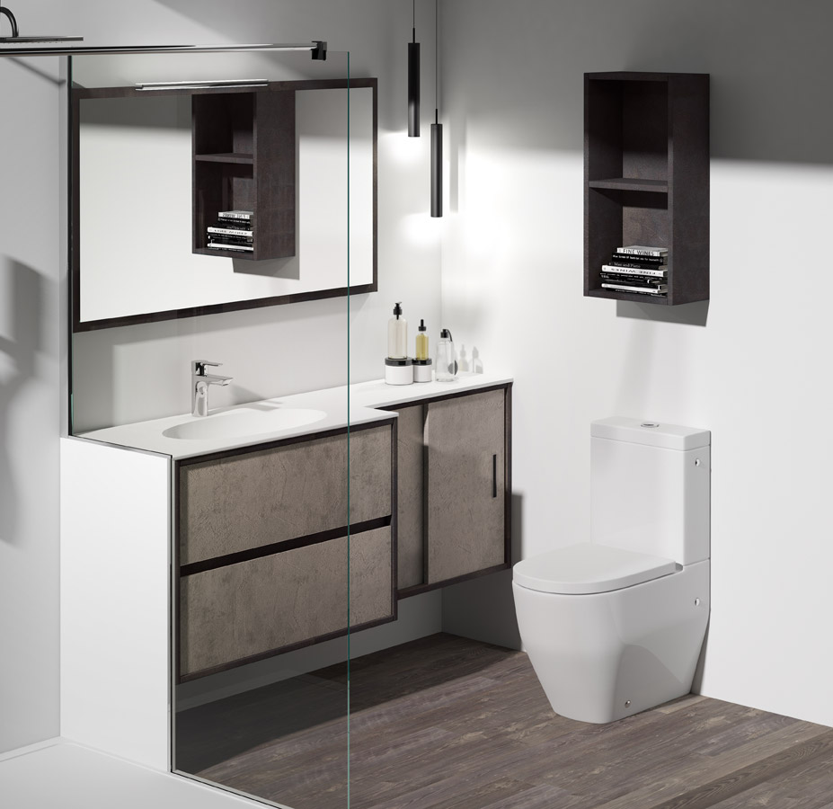 Bathroom space solutions made to mea