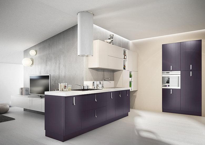 Итальянская кухня в современном стиле Plan Melanza от фабрики Berloni