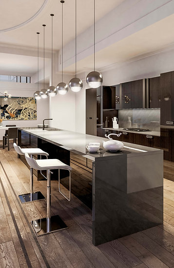Итальянская кухня в современном стиле  Soho Lux от фабрики Berloni