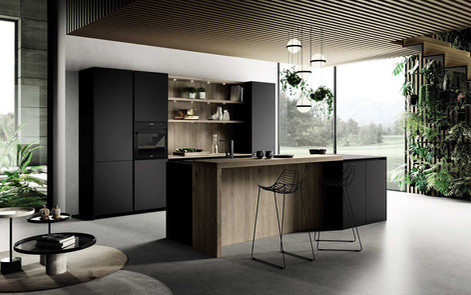 Кухня минимализм фабрика Miton