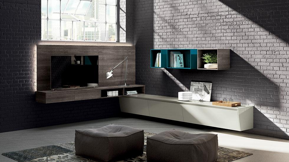 Угловая гостиная с максимальной композиционной свободой, как в используемых модулях