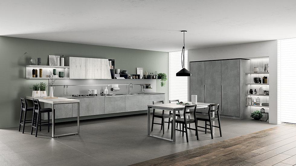 Функциональность и эстетическая ценность великолепно отражаются в навесных шкафах из металла, окрашенного в цвет Антрацит, со