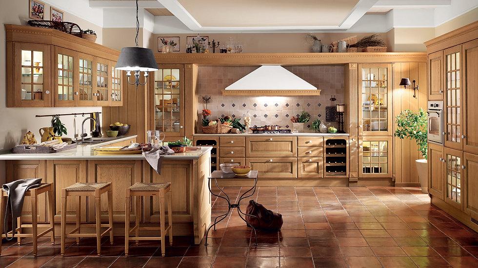 Итальянская кухня Baltimora-2 фабрики Scavolini