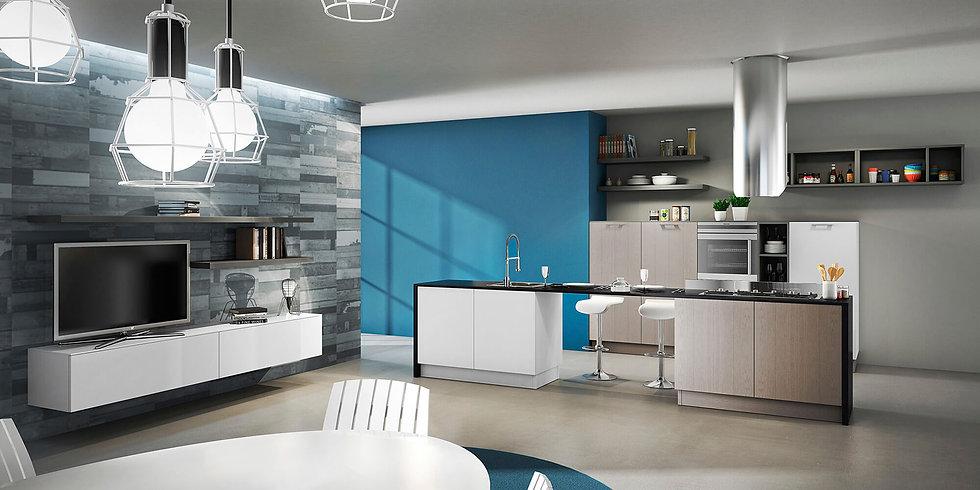 Итальянская кухня в современном стиле Plan Biscotto от фабрики Berloni