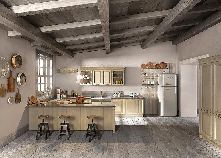 Итальянская кухня в стиле прованс Florence Corda от фабрики Berloni