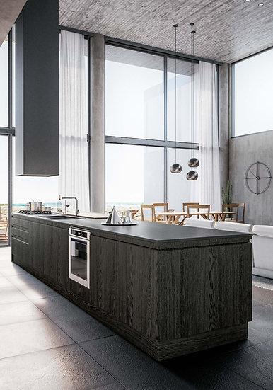 Итальянская кухня в стиле лофт Canova Rovere от фабрики Berloni