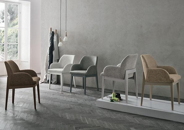 Итальянский обеденный стул-кресло Salisburgo