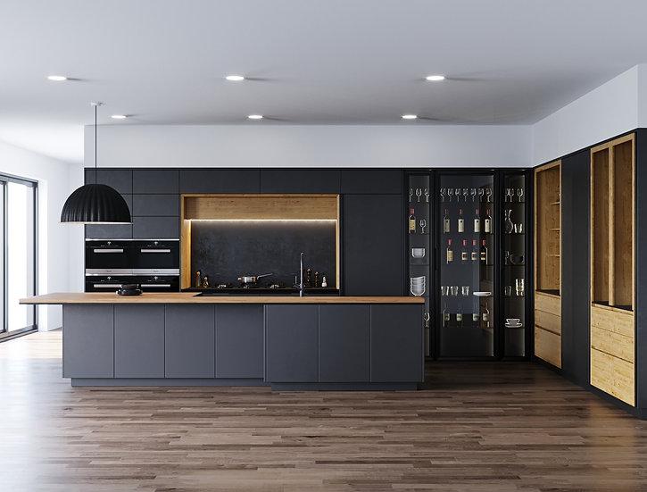 Итальянская кухня B50 Graphite в современном стиле от Berloni
