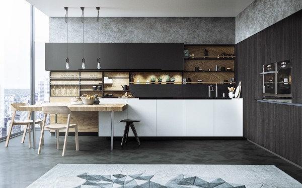 Итальянская кухня премиум - класса Ulkiorra в современном стиле