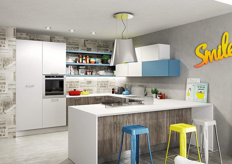 Итальянская кухня в современном стиле Sunny Smile от фабрики Berloni