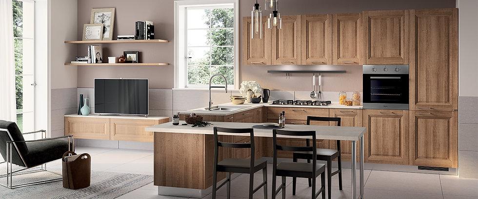 Современная кухня, умело подчеркивающая современный стиль жизни: свидетельством тому служит великолепные приставной стол (из