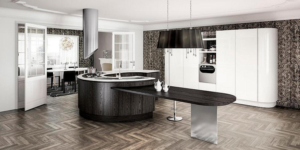 Итальянская кухня в стиле Арт Деко B50 Elegant от фабрики Berloni