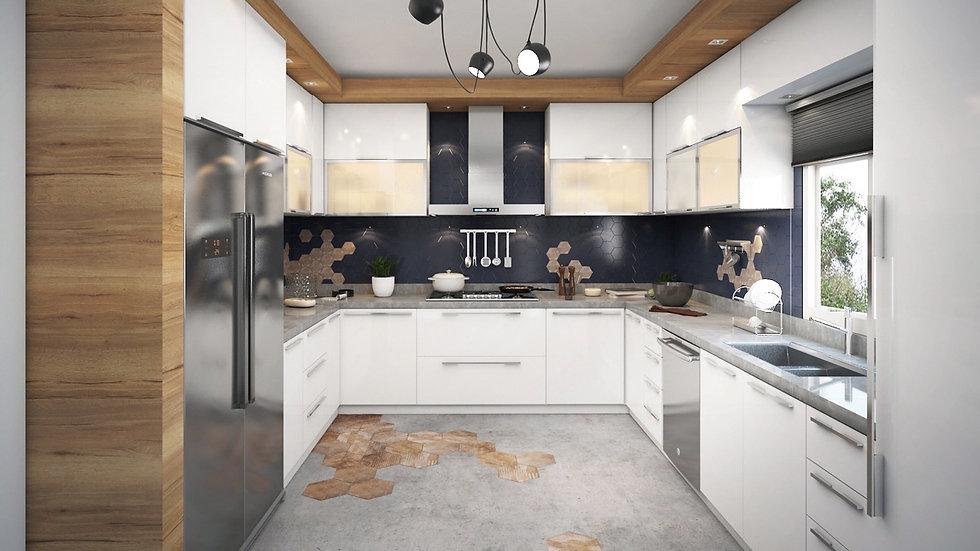 Итальянская кухня Kenpachi в современном стиле от Берлони